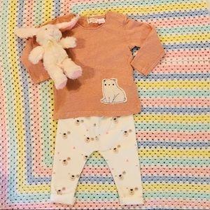 🐻 Zara mini 9-12 months adorable bear outfit set